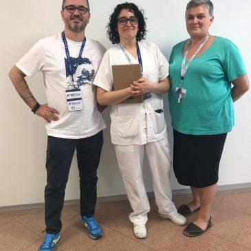 Reunión de SIETeSS con el gerente y el director de RRHH del Hospital Vall d'Hebron