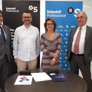 SIETeSS firma un acuerdo con Banco Sabadell para ofertar a los socios productos financieros